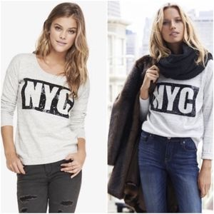 NYC Foiled Pullover Tunic Sweater
